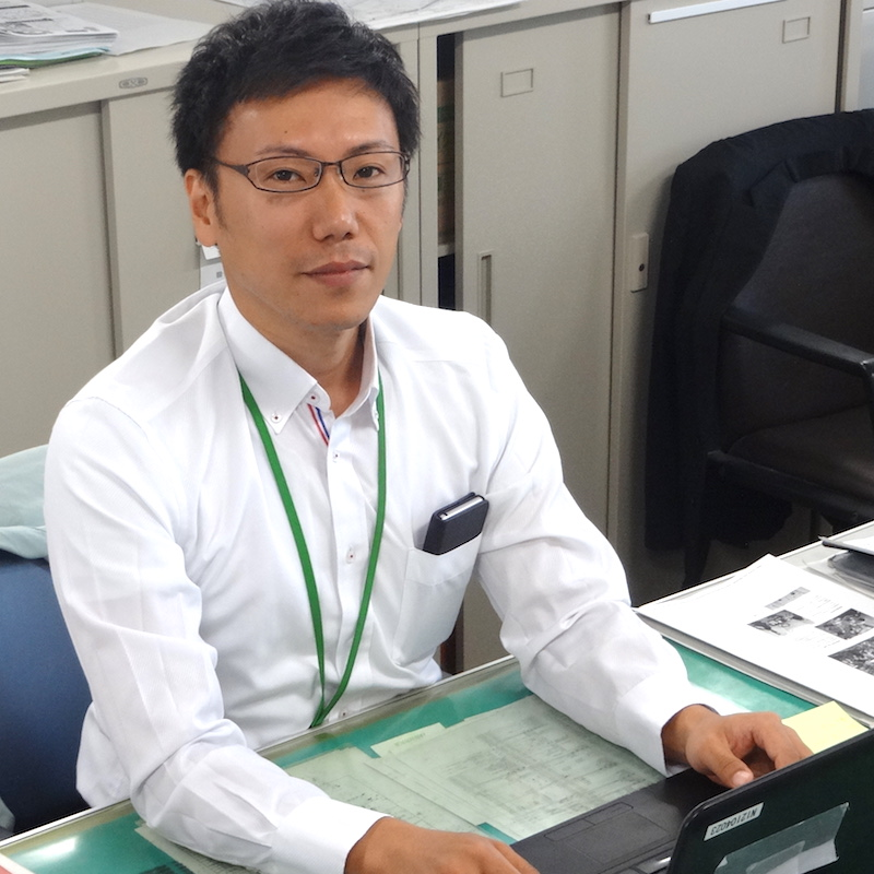 安満遺跡公園整備室の信澤さん