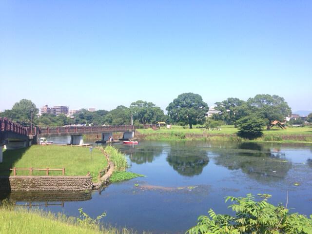 熊本市水前寺江津湖公園